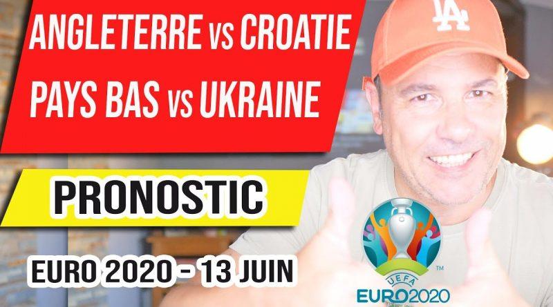 Pronostic foot – Pays Bas vs Ukraine – Angleterre vs Croatie – Euro 2020 – 13 juin